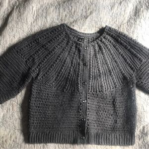 Ann Taylor Wool Cropped Sweater
